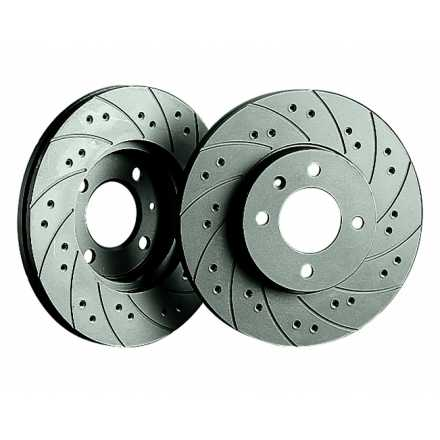 Black Diamond Performance Drilled & Grooved Brake Discs (Rear)